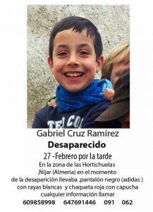 Gabriel Cruz… ¡Desaparecido!